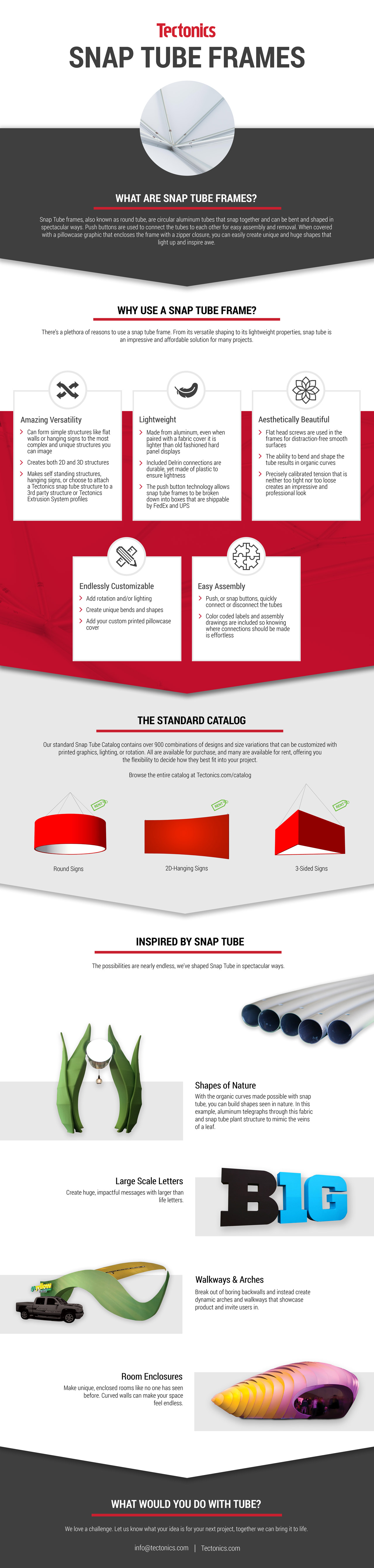 Snap Tube Infographic: What Snap Tube is, Why to use it, and Inspirational examples of Snap Tube projects.