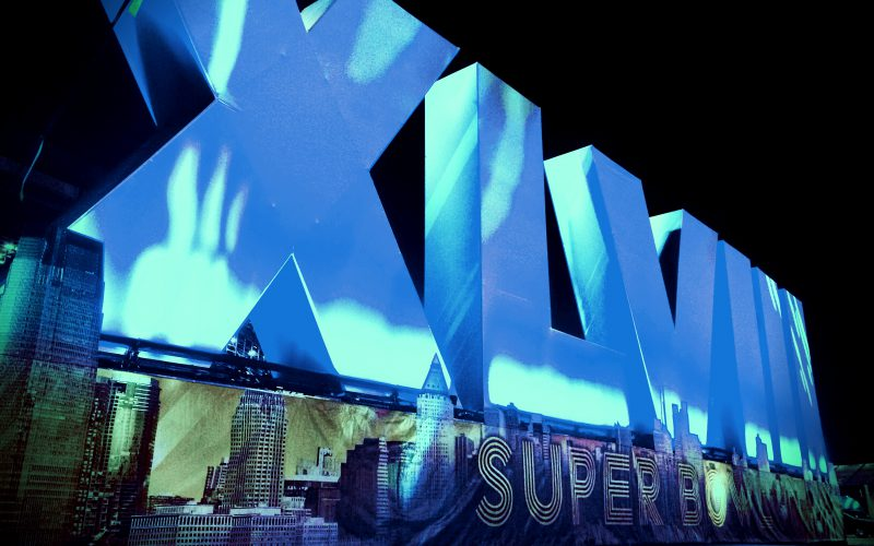 XLVII Superbowl Snap Tube Letters