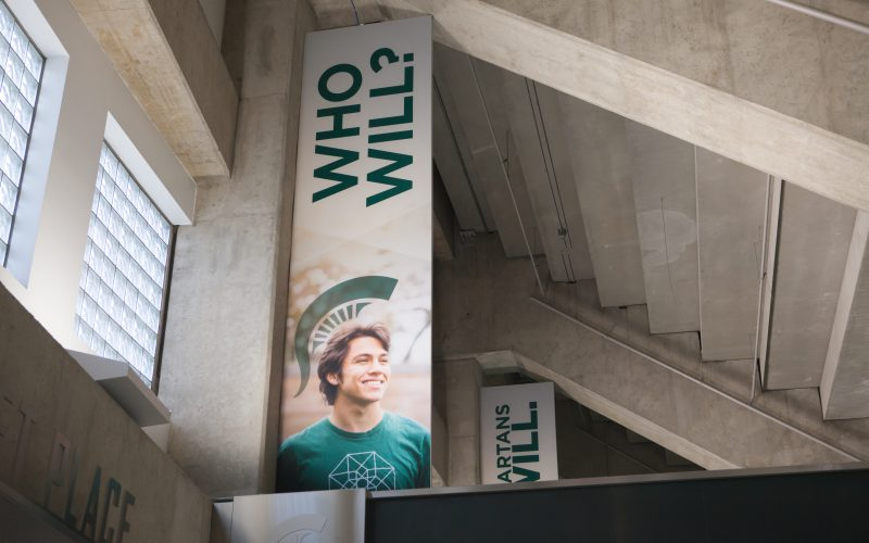 MSU Who Will Fabric Banners